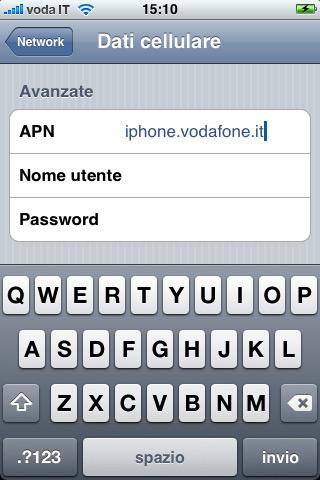 Come configurare Internet Vodafone su Android