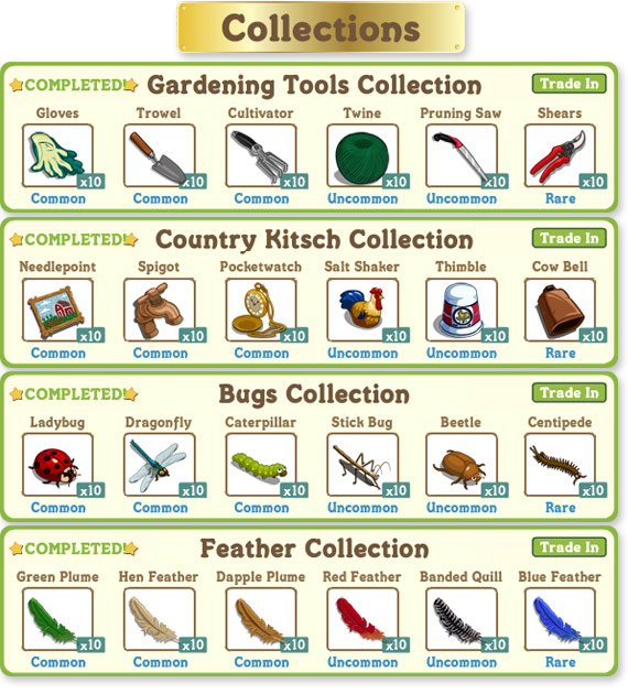 farmville collections
