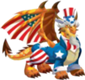 Uncle sam dragon adult