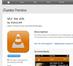 VLC per iOS leggere tutti i formati video su Iphone ed Ipad