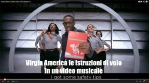 Virgin America le istruzioni di volo in un video musicale