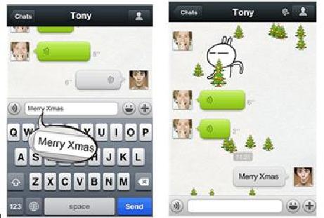 Invia gli auguri di Natale con WeChat