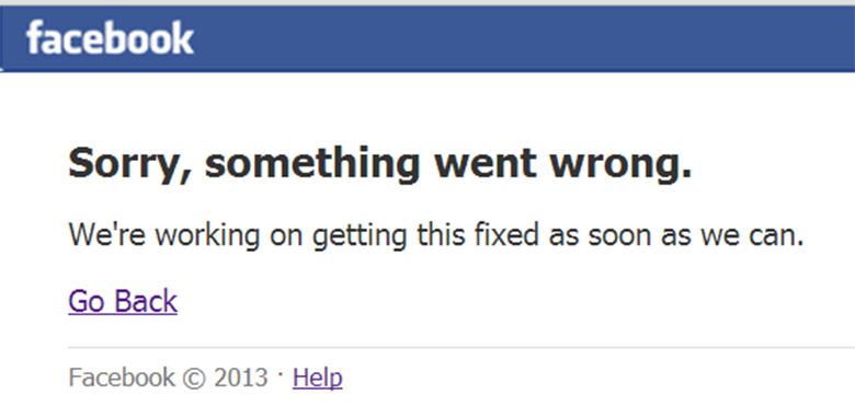 Problemi Facebook non funziona è down